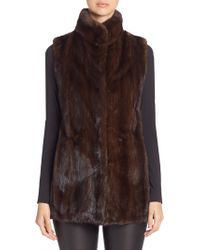 Saks Fifth Avenue - Mink Fur Vest - Lyst