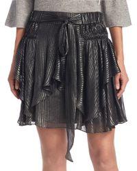 Halston - Flounce Pull-on Mini Skirt - Lyst