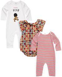 Burberry - Baby's Three-piece Thomas Bodysuit - Lyst