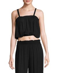Cool Change - Draped Cropped Top - Lyst