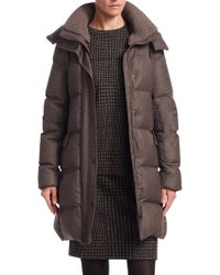 Akris Punto - Flanell Quilted Waterproof Down Coat - Lyst