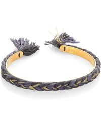Aurelie Bidermann - Copacabana Braided Bangle Bracelet - Lyst