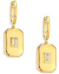 SHAY - Diamond & 18k Yellow Gold Drop Earrings - Lyst