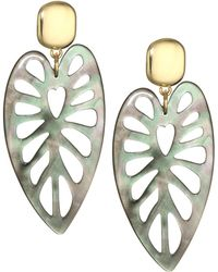 Nest - Mother-of-pearl & 24k Goldplated Statement Earrings - Lyst