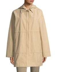 Becken - Layered Long Windbreaker - Lyst