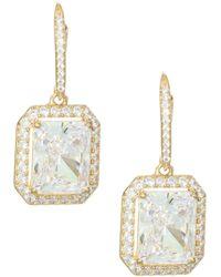 Adriana Orsini - 18k Goldplated Sterling Silver Framed Rectangle Leverback Earrings - Lyst
