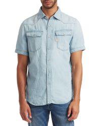 G-Star RAW - 3301 Denim Short-sleeve Shirt - Lyst