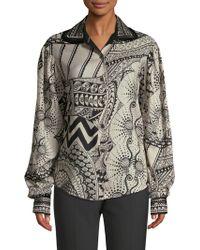 Etro - Wool Art Deco Blouse - Lyst