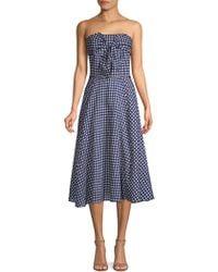 Shoshanna - Ellen Gingham Cotton Dress - Lyst