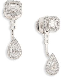 Messika - My Twin Toi & Moi Small Diamond & 18k White Gold Stud & Ear Jacket Set - Lyst