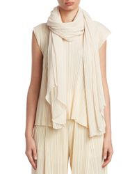 Pleats Please Issey Miyake - Madame Crepe Poncho - Lyst
