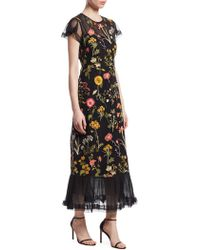 RED Valentino - Macrame Floral Maxi Dress - Lyst