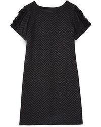 Un Deux Trois - Girl's Chevron-knit Shift Dress - Lyst