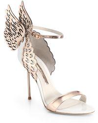 Sophia Webster - Evangeline Winged Leather Sandals - Lyst