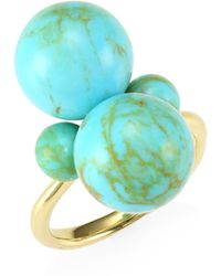 Ippolita - Nova 18k Yellow Gold & Turquoise Ring - Lyst