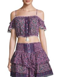 Poupette - Honey Floral-print Top - Lyst