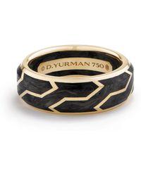 David Yurman - 18k Yellow Gold Band Ring - Lyst