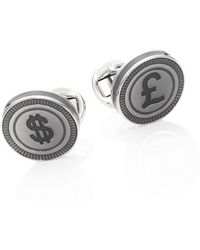 Saks Fifth Avenue - Collection Rhodium-plated Tennis Currency Links - Lyst
