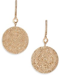 Astley Clarke - Icon Pave Light Grey Diamond & 14k Rose Gold Drop Earrings - Lyst