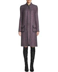 St. John - Painterly Sheen Tweed Knit Jacket - Lyst