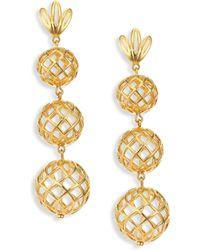 Lele Sadoughi | Tiered Pineapple Clip-on Drop Earrings | Lyst