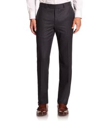 Saks Fifth Avenue - Wool Flat-front Pants - Lyst