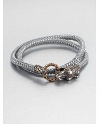 John Hardy - Braided Wrap Sterling Silver Bracelet - Lyst