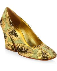 Dries Van Noten | Brocade Wedge Pumps | Lyst