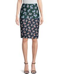 Yigal Azrouël - Floral Printed Pencil Skirt - Lyst