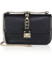 Valentino - Garavani Lock Rolling Small Leather Shoulder Bag - Lyst