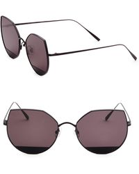 29c9a231d8 Lyst - Gentle Monster Mooncut 54mm Mirrored Round Cat Eye Sunglasses ...
