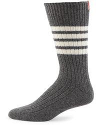 Thom Browne - Mid-calf Chunky Ribbed Socks - Lyst