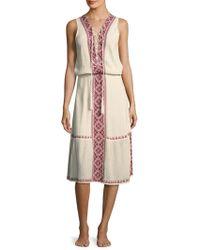 Melissa Odabash   Gwyneth Silk Blouson Dress   Lyst