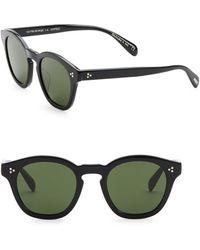 Oliver Peoples - Boudreau L.a. 48mm Square Sunglasses - Lyst