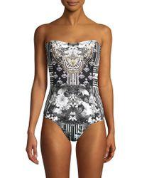 a4e5eb0ffe68c Camilla - Convertible Bandeau One-piece Swimsuit - Lyst
