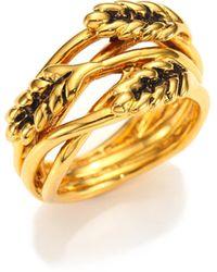 Aurelie Bidermann - Wheat Ring/goldtone - Lyst