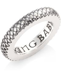 King Baby Studio - Sterling Silver Dragon Scale Infinity Ring - Lyst