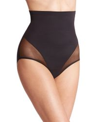 Tc Fine Intimates - Sheer Shaping High-waist Brief - Lyst