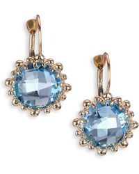 Anzie - Dew Drop Sky Blue Topaz & 14k Yellow Gold Earrings - Lyst