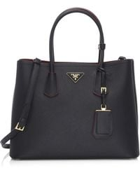 Prada - Saffiano Cuir Large Double Bag - Lyst