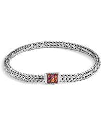 John Hardy - Classic Chain Red Sapphire & Sterling Silver Bracelet - Lyst