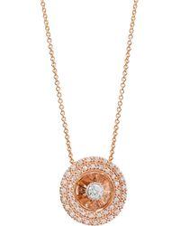Plevé - Aura 14k Rose Gold & Diamond Round Pendant Necklace - Lyst