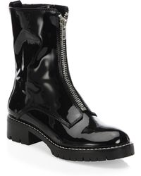 Alice + Olivia | Dustin Patent Leather Booties | Lyst