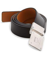 MCM - Adjustable Buckle Leather Belt - Lyst