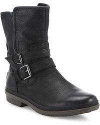 UGG - Women's Simmens Waterproof Belt Boots - Black - Size 5 - Lyst