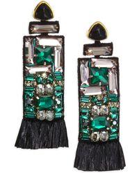 Lizzie Fortunato - Emerald City Crystal Earrings - Lyst