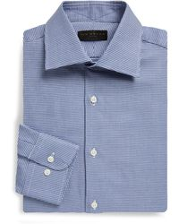 Ike Behar - Regular-fit Houndstooth Dobby Cotton Dress Shirt - Lyst