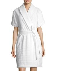Saks Fifth Avenue - Collection Windowpane Terry Robe - Lyst