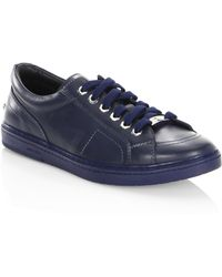 Jimmy Choo - Star-studded Leather Low-top Sneakers - Lyst