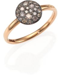 Pomellato - Sabbia Brown Diamond & 18k Rose Gold Small Ring - Lyst